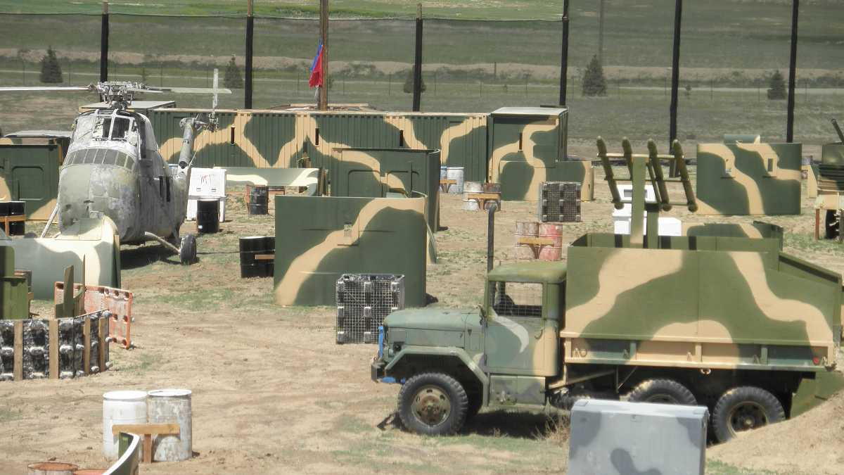 Military obstacles on the course